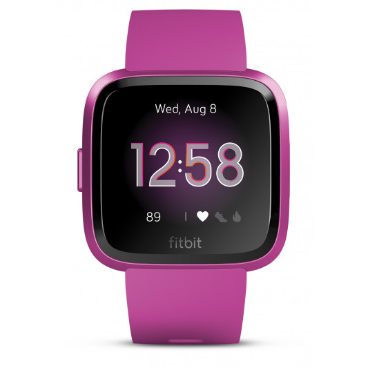 Fitbit Versa Lite Edition Wristband with Heart Rate Tracker - Mulberry/Mulberry (S/L) (FB415PMPM)