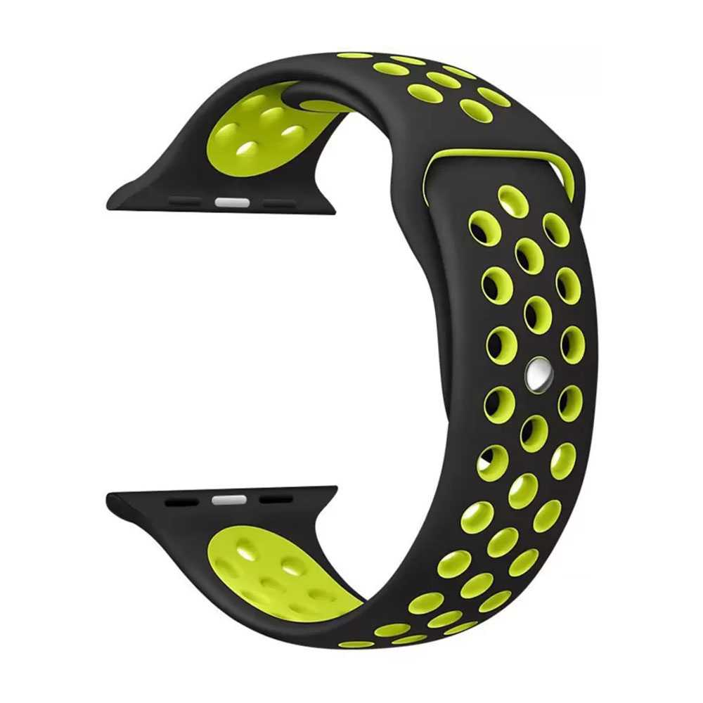 Porodo Nike Watch Band for Apple Watch 44mm / 42mm - Black/Yellow