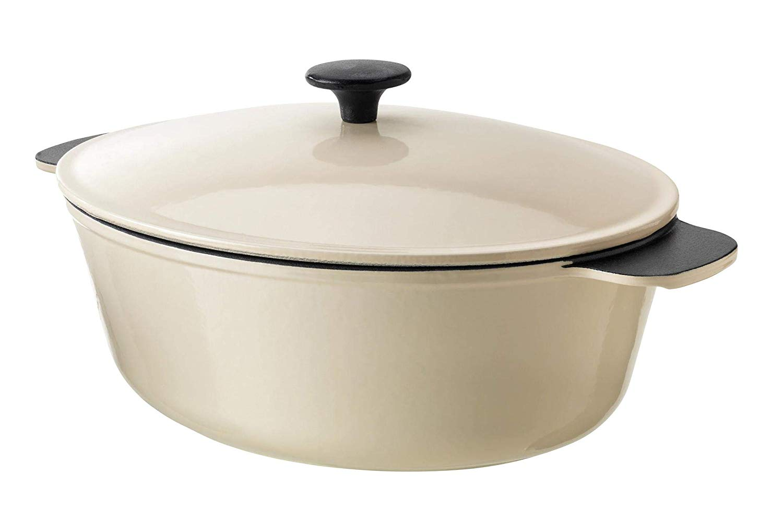SENIOR Casserole with lid, off-white white, 5 l