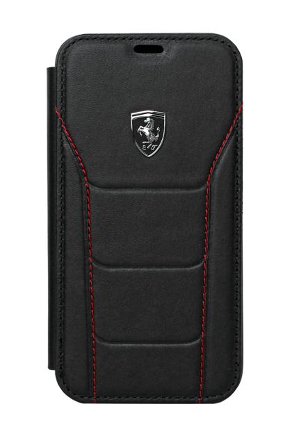 Ferrari Heritage Book Type Case for iPhone X - Black