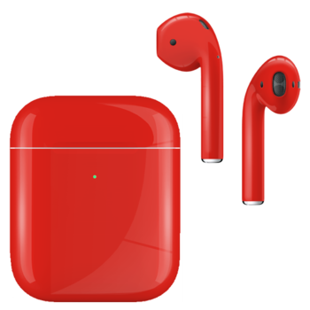 Apple AirPods with Wireless Charging Case 2nd Generation Painted Special EDITION Gloss Ferrari Red
