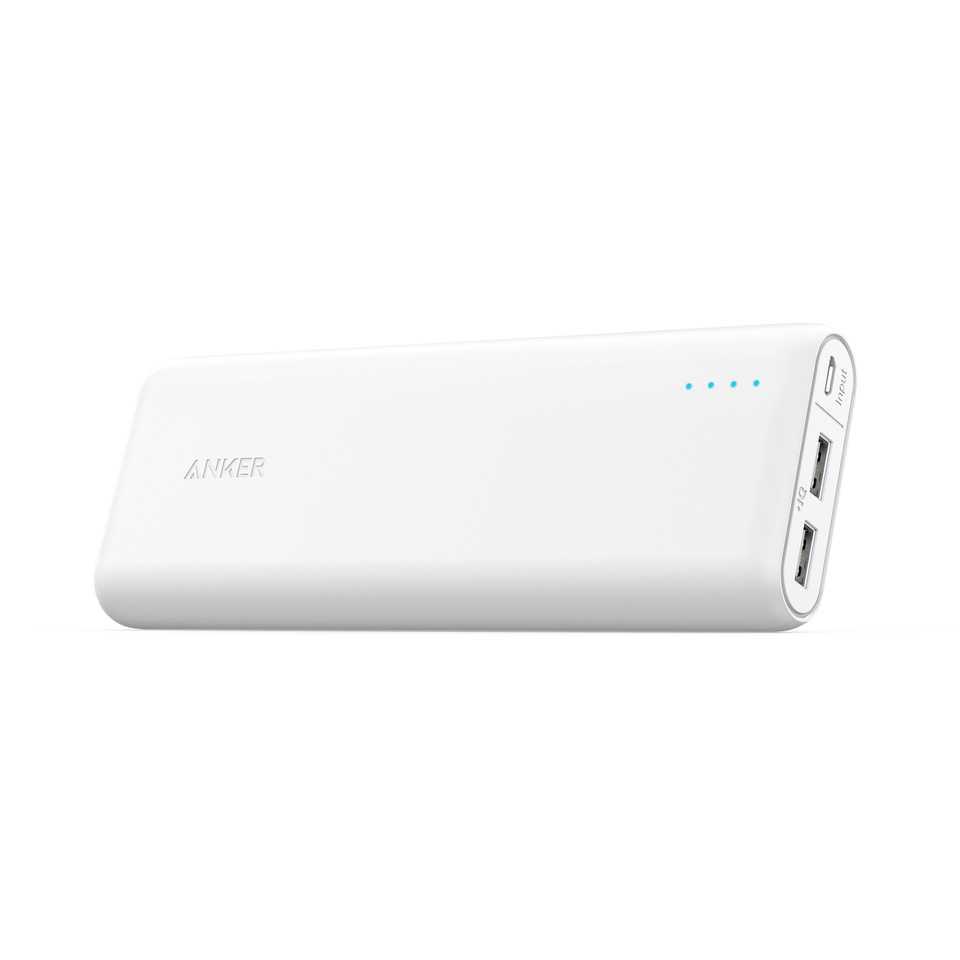 Anker PowerCore External Battery 20100mAh - White (A1271H22)