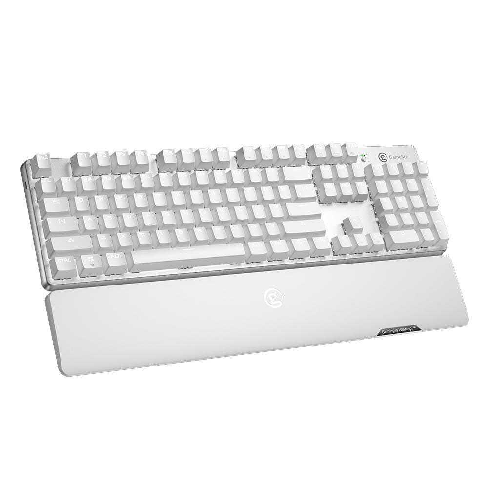 GameSir GK300 Wireless Mechanical Gaming Keyboard - White (GK300-WH)