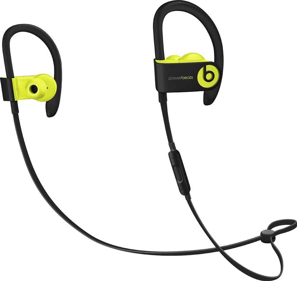 Beats Powerbeats 3 Wireless In-ear Stereo Headphones - Shock Yellow (A1747-SY)