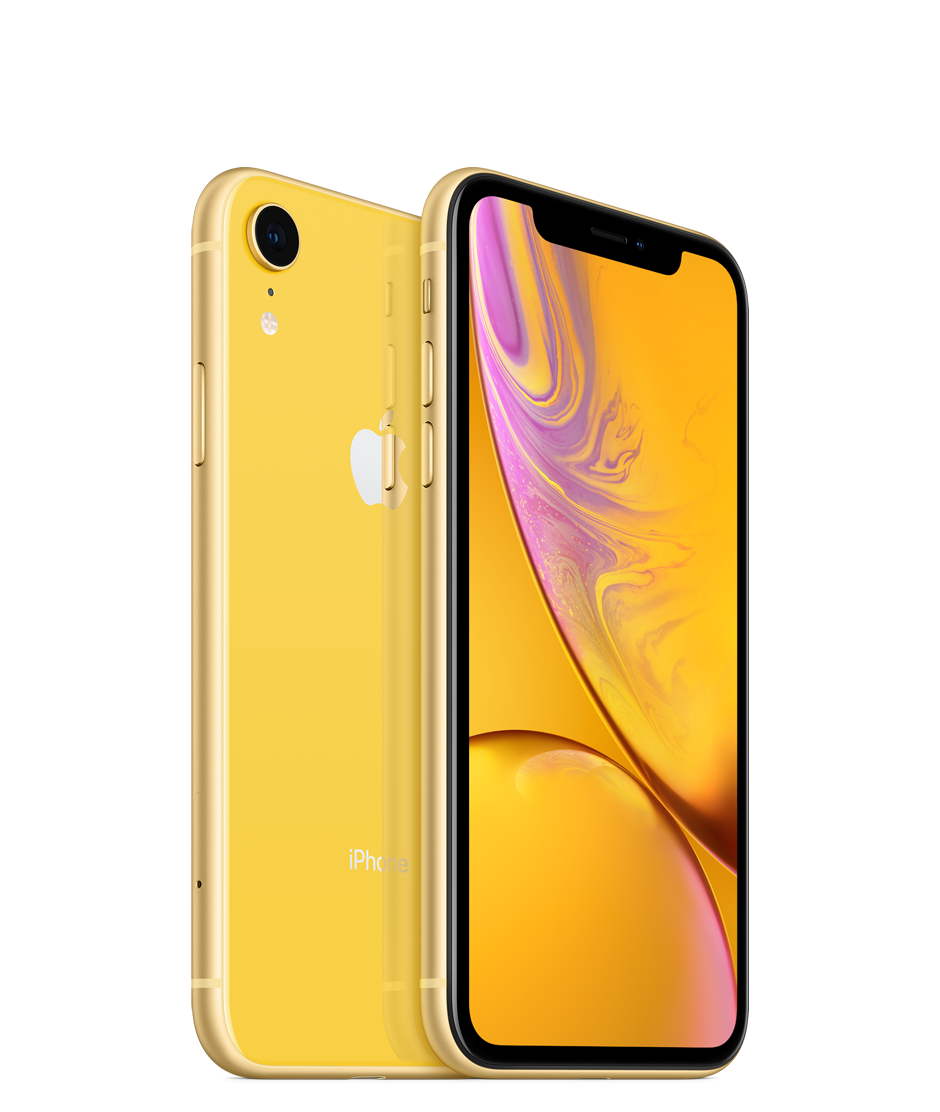 Apple iPhone XR Dual SIM With Face Time - 256GB, 4G LTE, Yellow