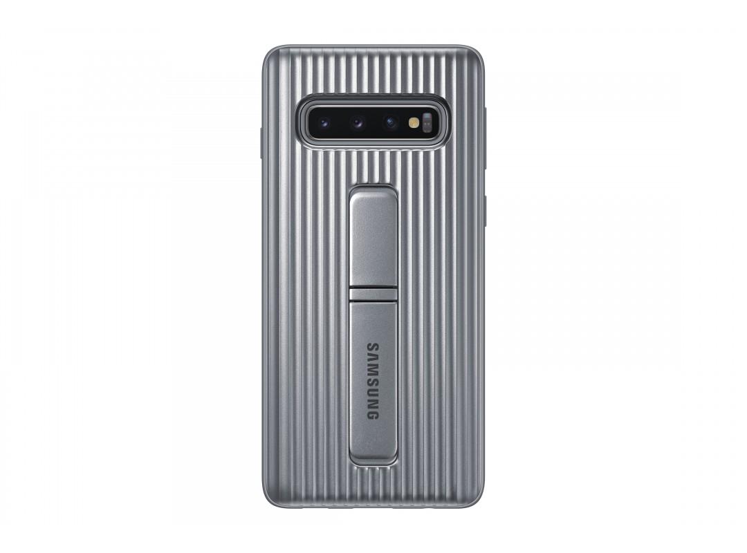 Samsung Galaxy S10 Protective Standing Color - Silver (EF-RG975CS)