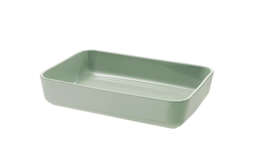 LYCKAD Oven/serving dish, green, 31x21 cm