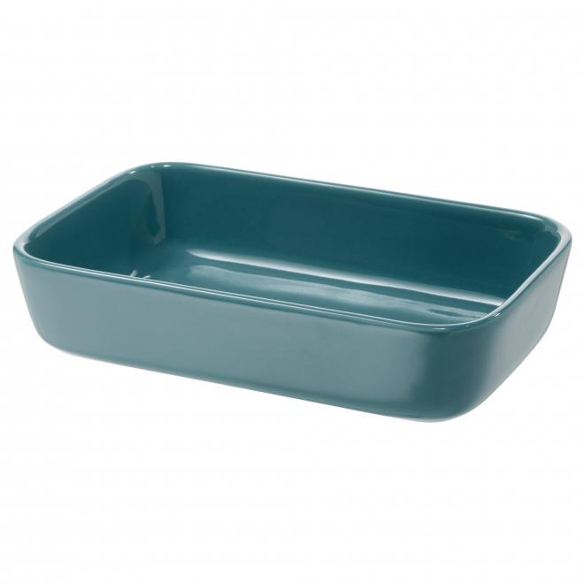 LYCKAD Oven/serving dish, blue, 23x15 cm