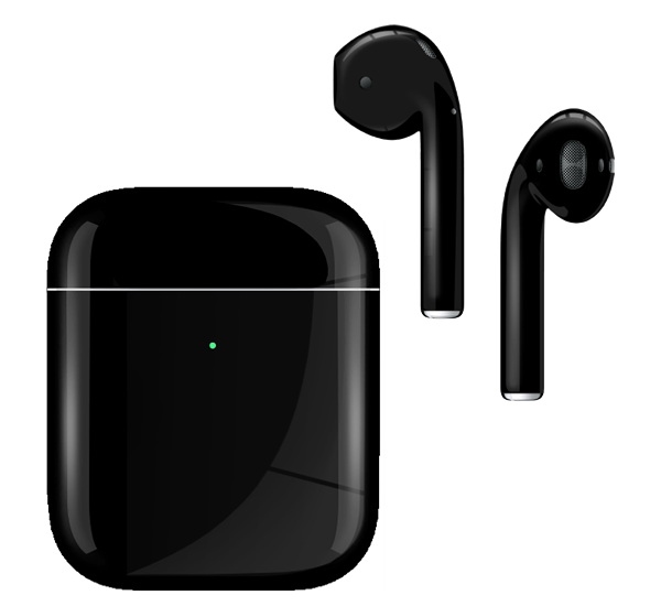 Apple AirPods with Wireless Charging Case 2nd Generation Painted Special EDITION Jet Black