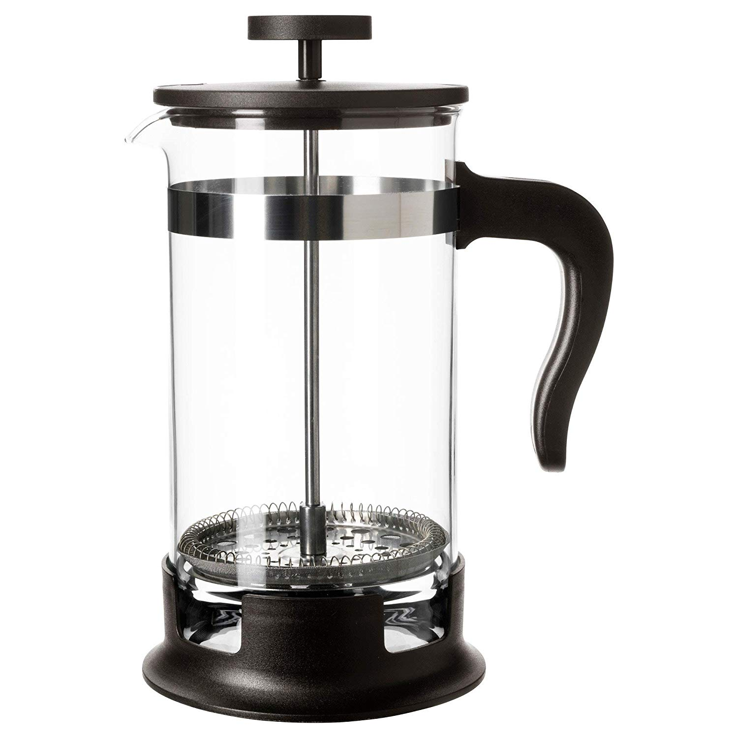 UPPHETTA Coffee/tea maker, glass, stainless steel, 1 l
