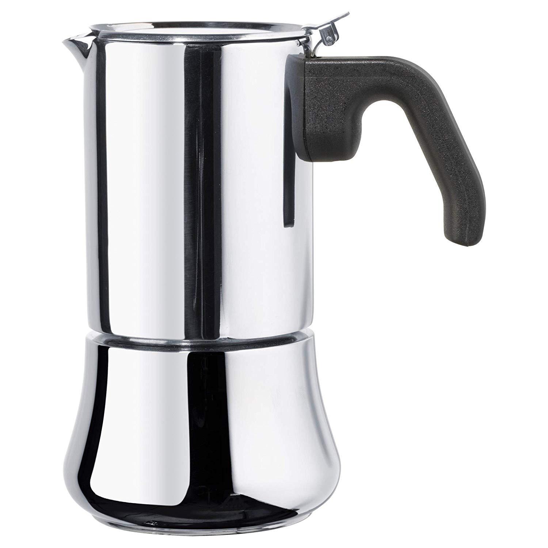 RÅDIG Espresso maker for 6 cups, stainless steel