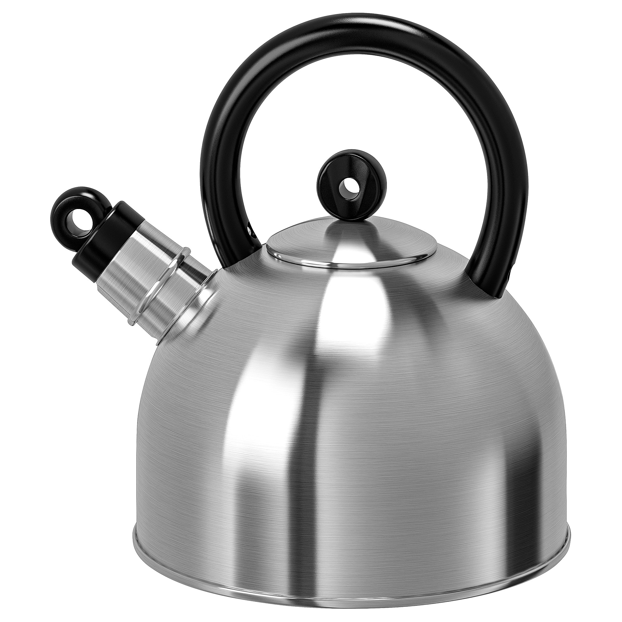 VATTENTÄT Kettle, stainless steel, black, 2 l