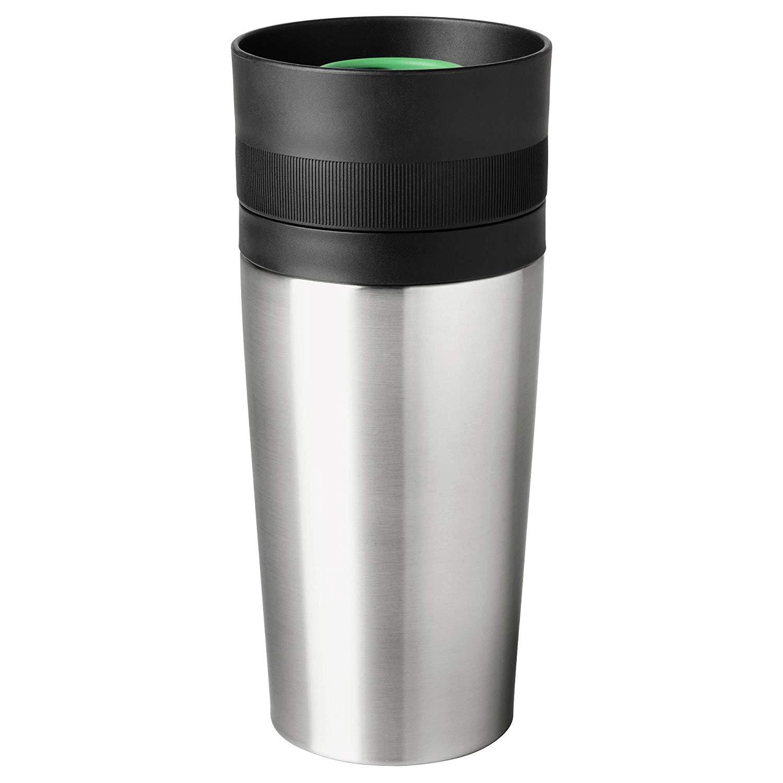 EFTERSÖKT Travel mug, stainless steel, 35 cl