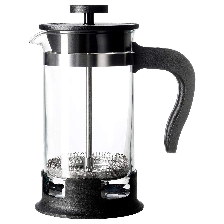 UPPHETTA Coffee/tea maker, glass, stainless steel, 0.4 l
