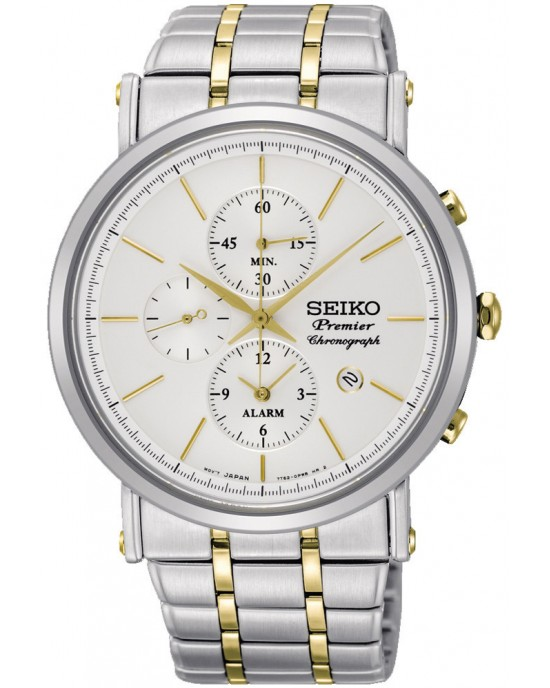 Seiko Premier Chronograph Quartz Alarm SNAF80P1 Men's Watch