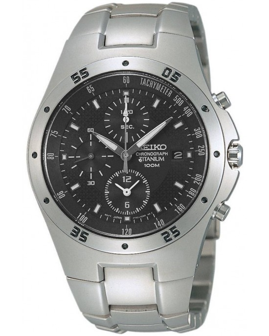 Seiko Men's Titanium Chronograph Watch SND419P1