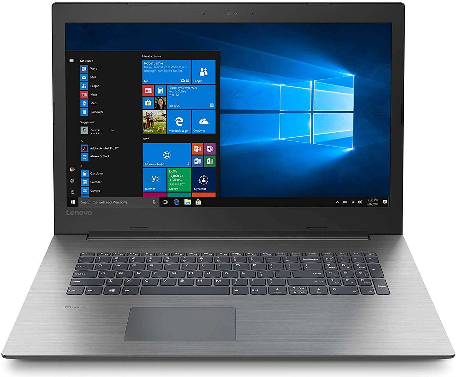 Lenovo IdeaPad 330 Laptop With 15.6-Inch Display, Core i3 Processor/4GB RAM/1TB HDD/Intel HD Graphics Grey