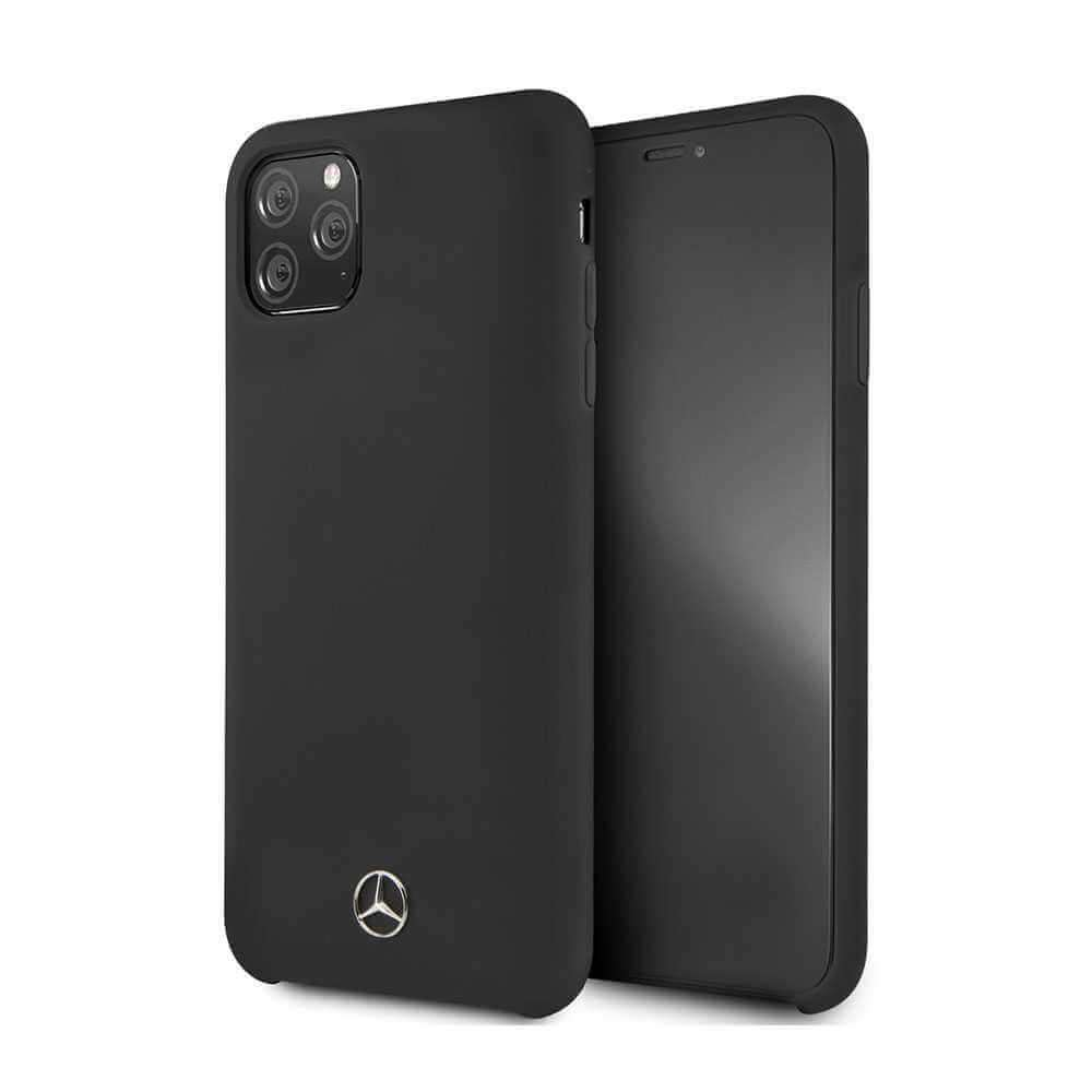 Mercedes Benz Liquid Silicone For iPhone 11 Pro Max - Black