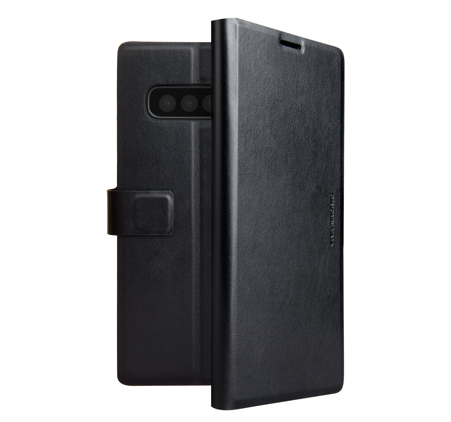 Viva Madrid Finura Cierre Folio Case for Samsung Galaxy S10 Plus - Black