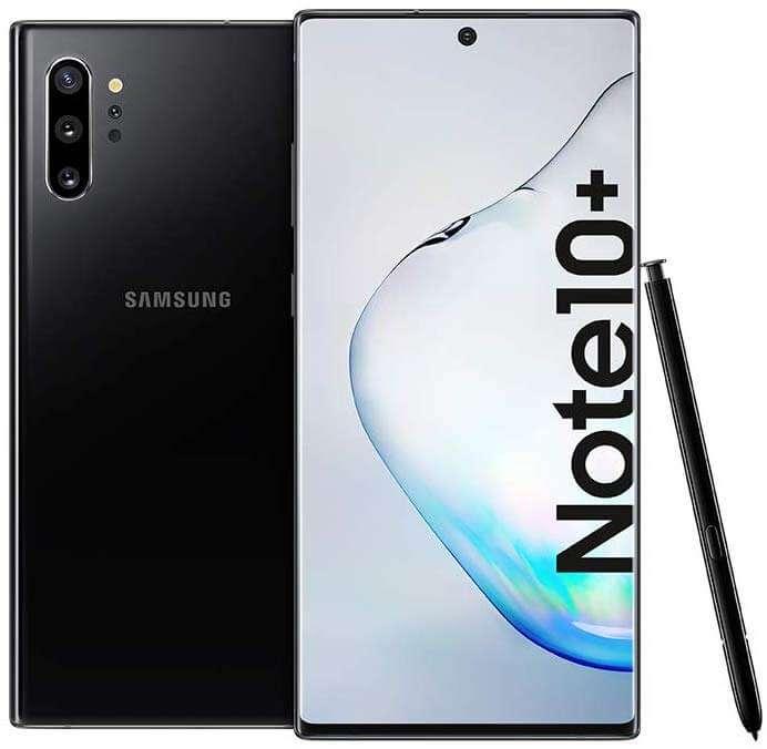 Samsung Galaxy Note 10+ Dual SIM - 512GB,12GB RAM, 4G LTE, Aura Black