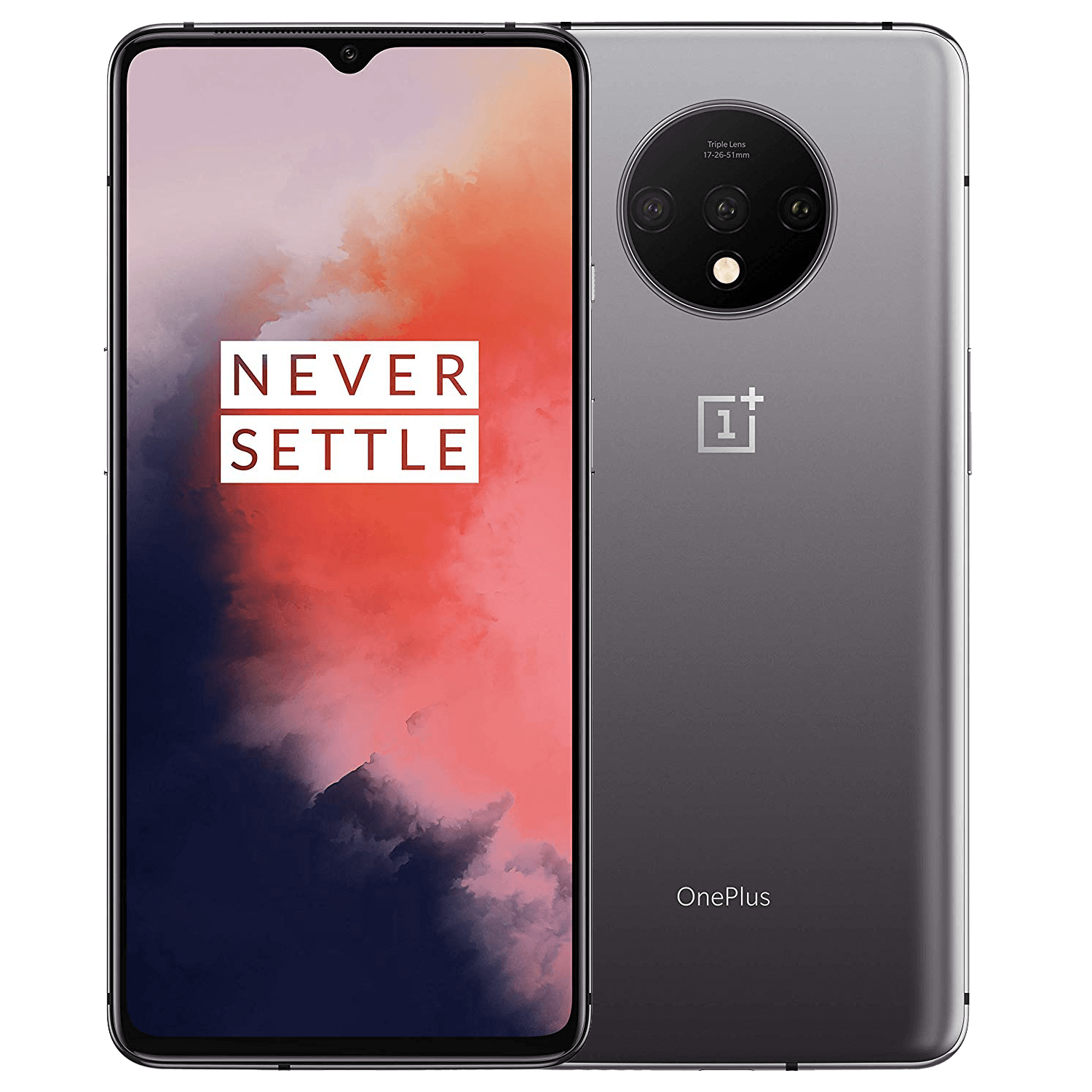 OnePlus 7T - 256GB, 8GB RAM, 4G LTE Frosted Silver
