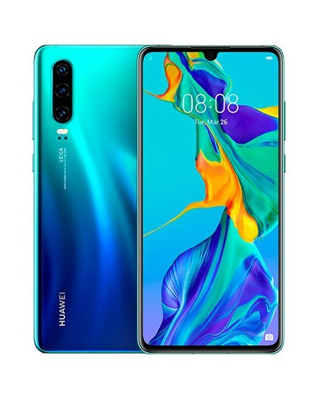 Huawei P30 Dual SIM - 128GB, 8GB RAM, 4G LTE, Aurora