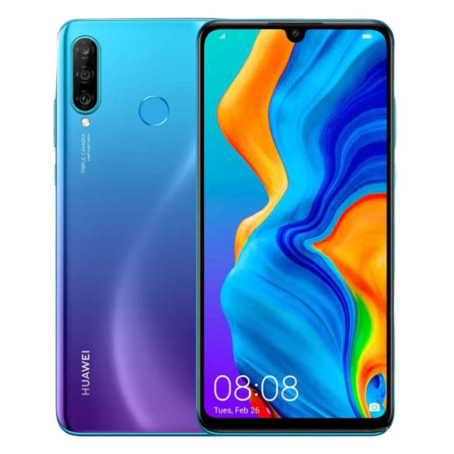 Huawei P30 lite Dual SIM - 128GB, 6GB RAM, 4G LTE, Peacock Blue