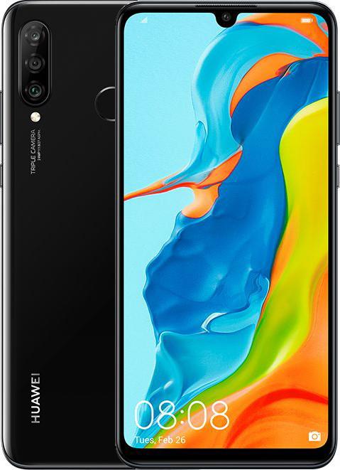 Huawei P30 lite Dual SIM - 128GB, 6GB RAM, 4G LTE, Midnight Black