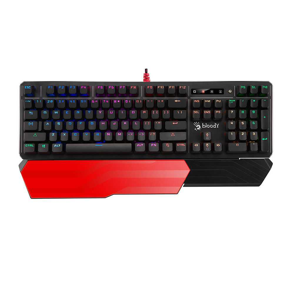Bloody B975 Light Strike RGB Mechanical Gaming Keyboard - (Orange Switch)