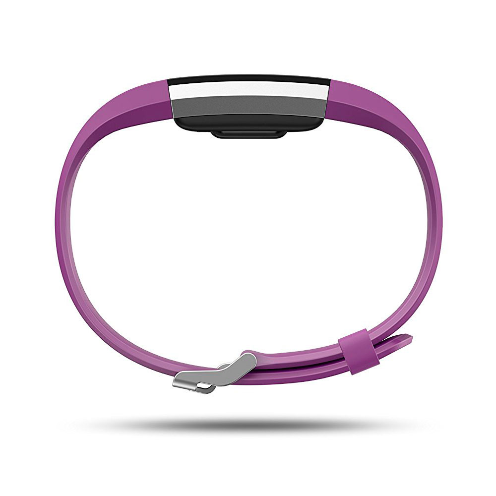 Fitbit Charge 2 Fitness Wristband with Heart Rate Tracker - Plum/Silver ( S ) (FB407SPMS)