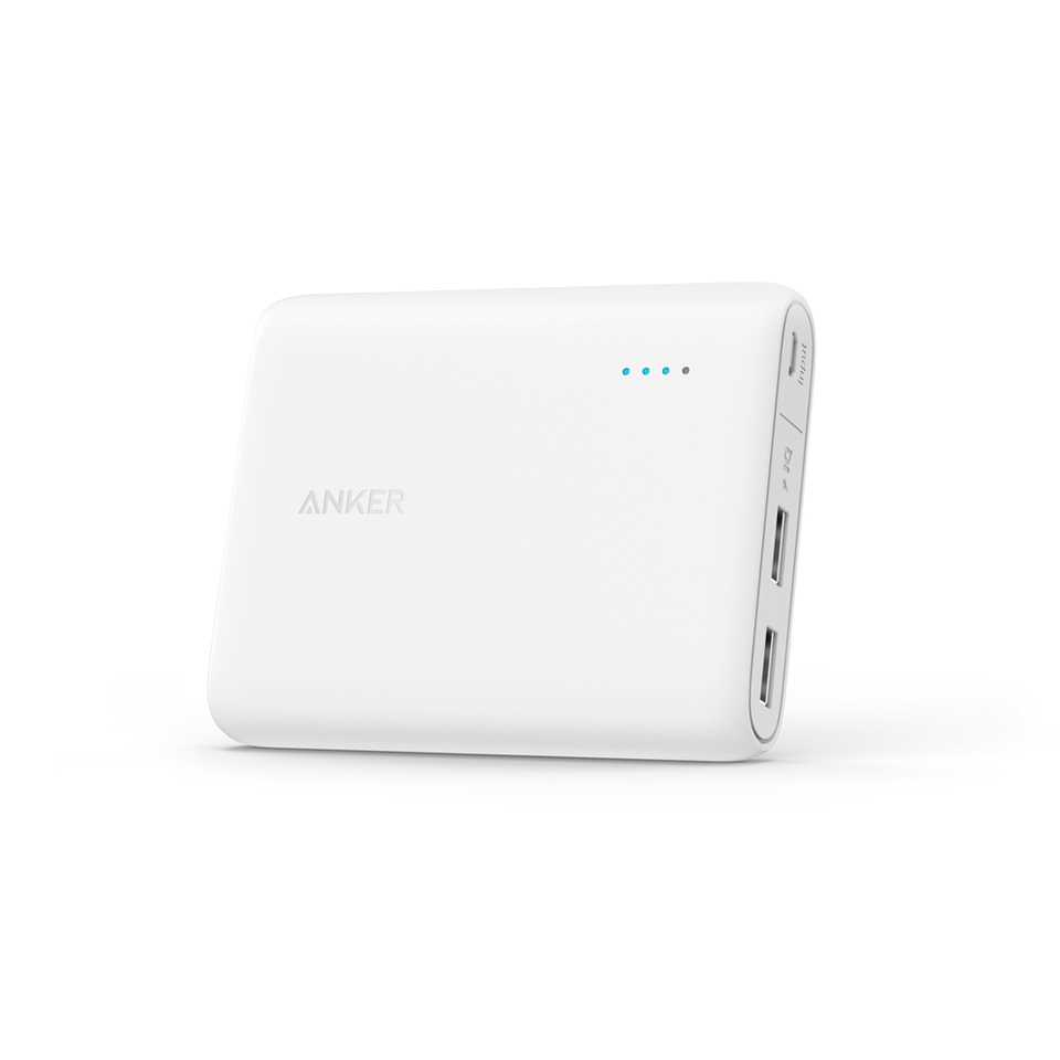 Anker PowerCore 10400mAh External Battery Pack - White (A1214H21)