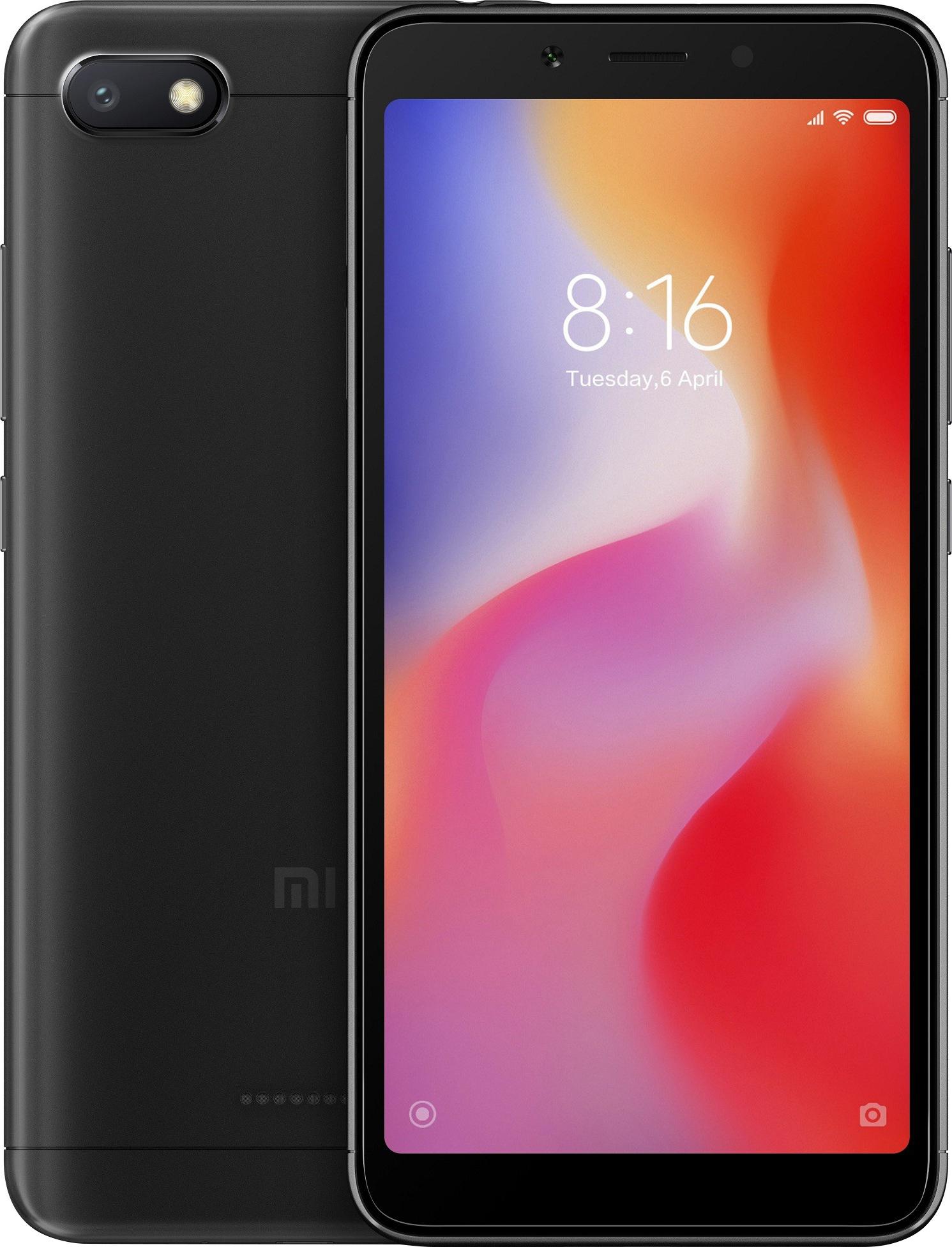 Xiaomi Redmi 6A Dual SIM - 16GB, 2GB RAM, 4G LTE, Black Global Versia