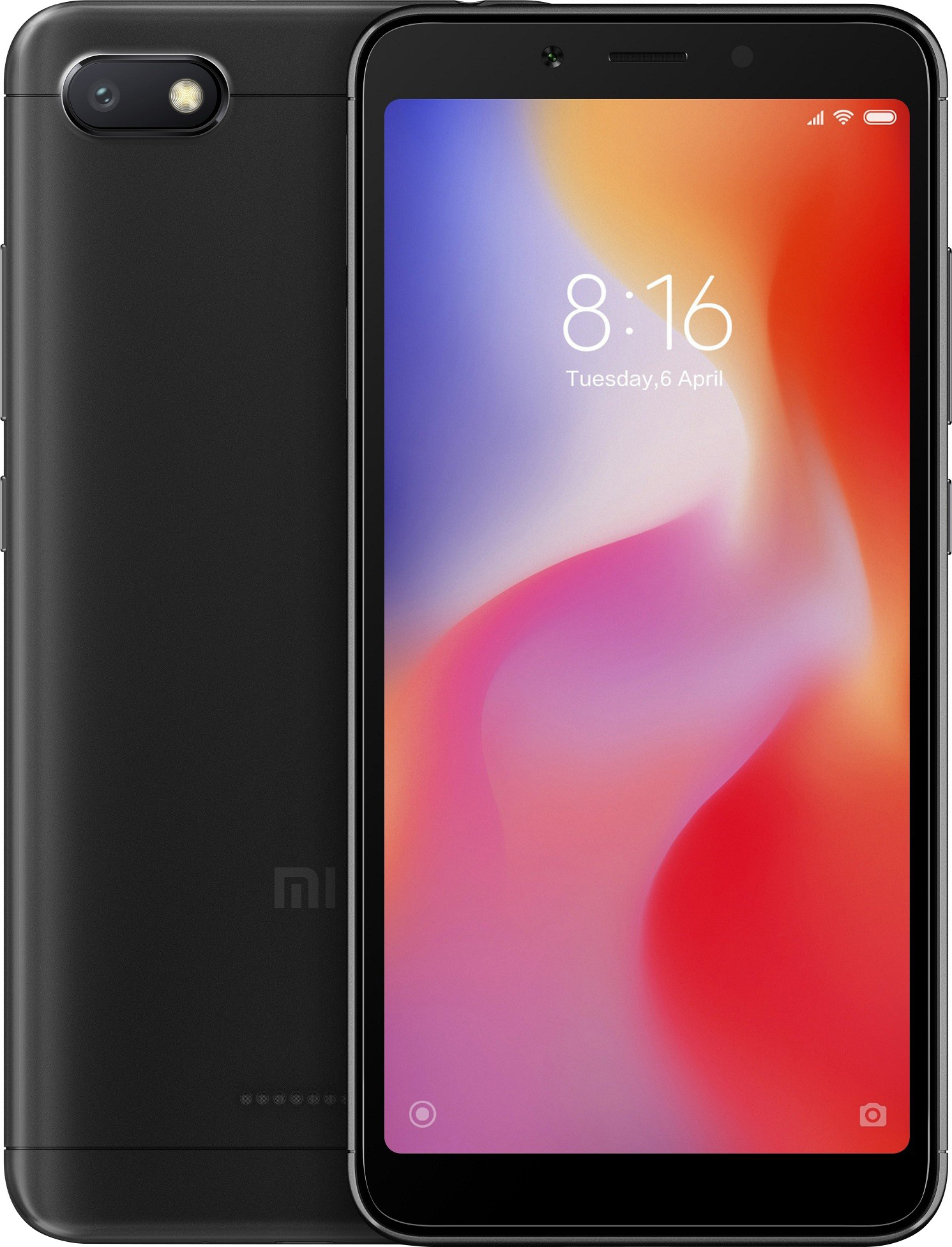 Xiaomi Redmi 6A Dual SIM - 32GB, 3GB RAM, 4G LTE, Black Global Versia