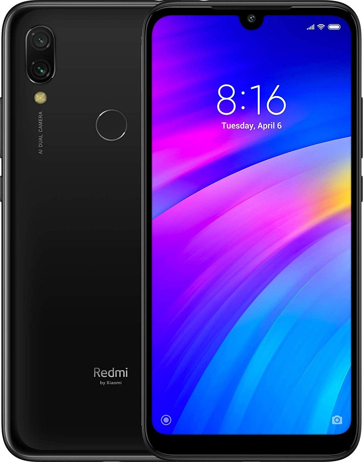 Xiaomi Redmi 7 Dual SIM - 32GB, 3GB RAM, 4G LTE, Black Global Versia