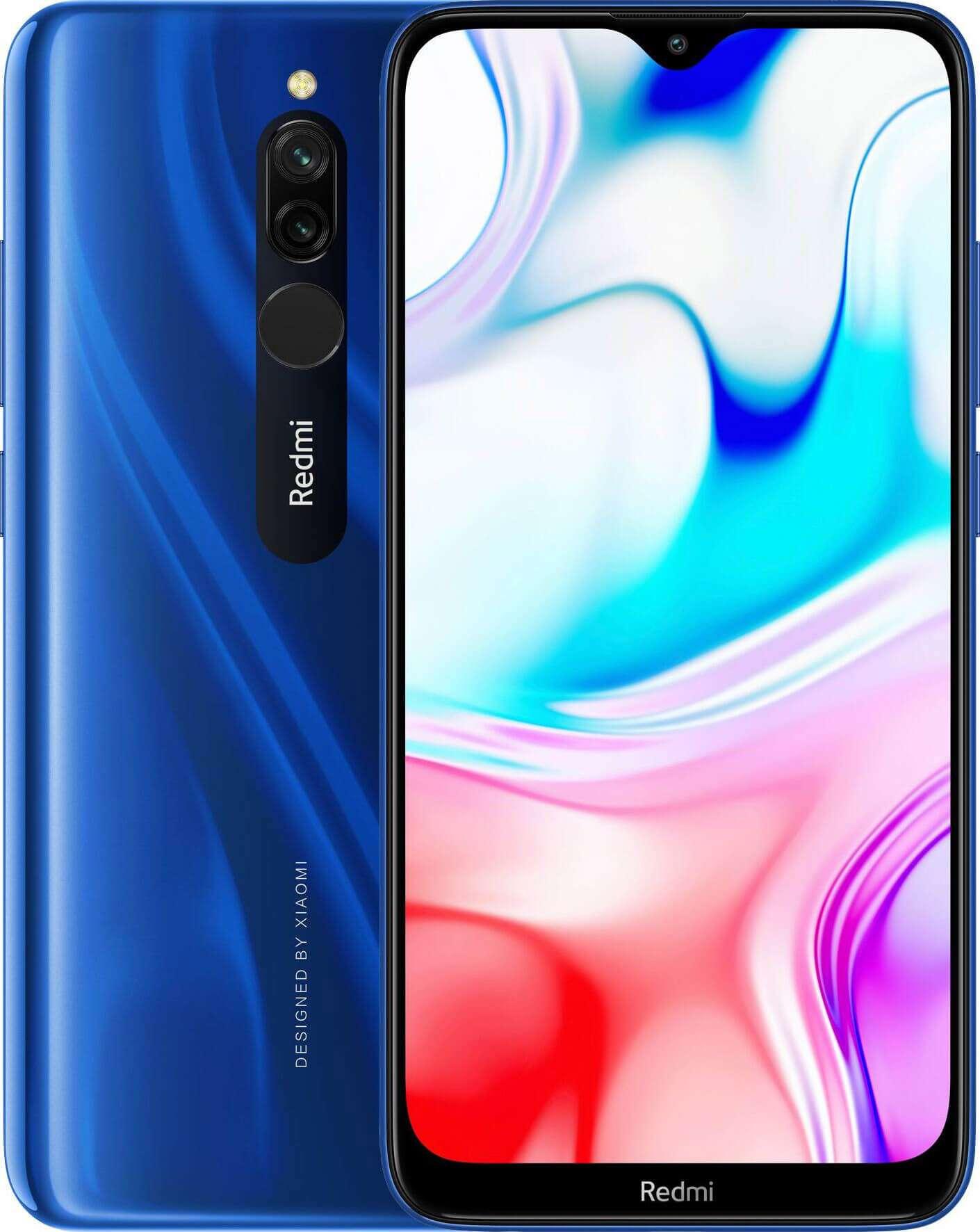 Xiaomi Redmi 8 Dual SIM - 32GB, 3GB RAM, 4G LTE, Sapphire Blue Global Versia