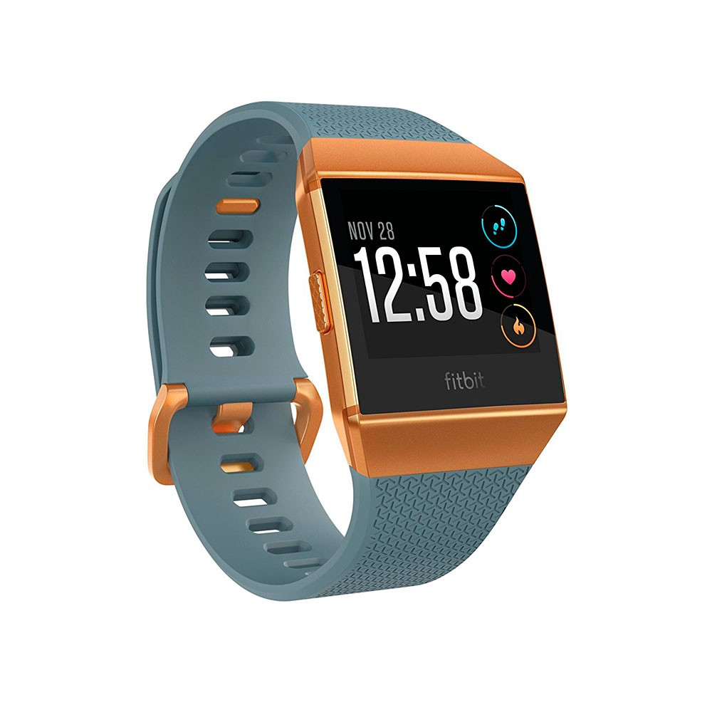 Fitbit ionic Fitness Wristband with Heart Rate Tracker - Slate Blue/Burnt Orange ( S/L ) (FB503CPBU)