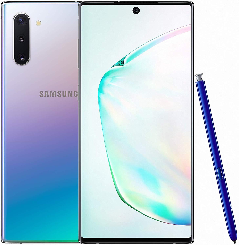 Samsung Galaxy Note 10 Dual SIM - 256GB, 8GB RAM, Dual SIM, Aura Glow