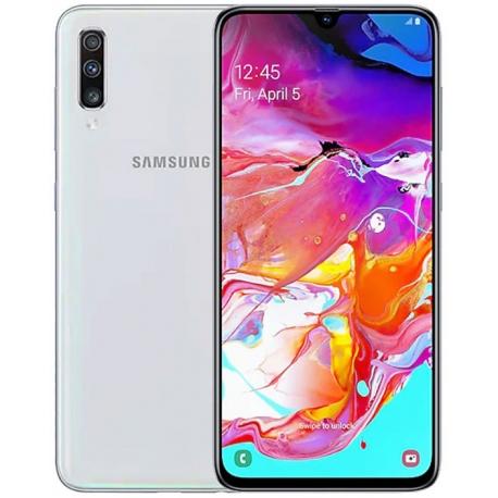Samsung Galaxy A70 Dual Sim, 128 GB, 6GB RAM,4G LTE, White
