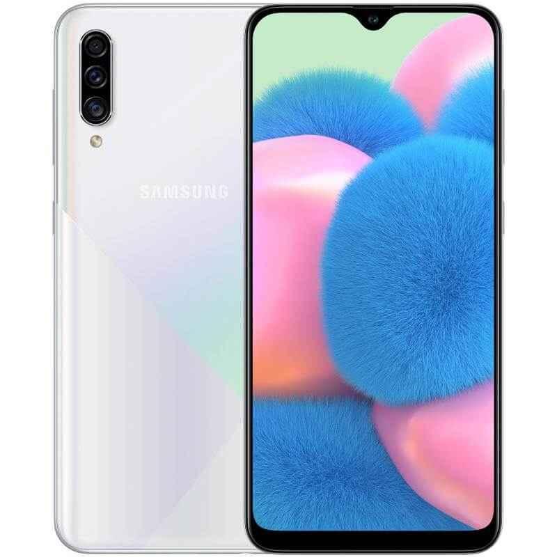 Samsung Galaxy A30s Dual SIM - 64GB, 4GB RAM, 4G LTE, Prism Crush White