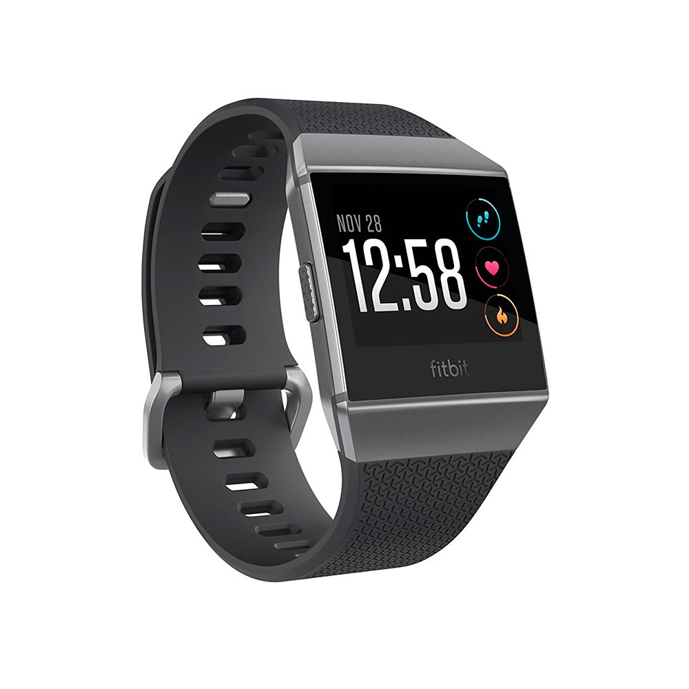 Fitbit ionic Fitness Wristband with Heart Rate Tracker - Charcoal/Smoke Gray ( S/L ) (FB503GYBK)
