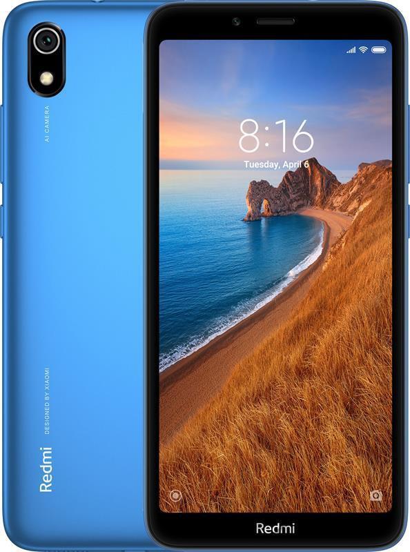 Xiaomi Redmi 7A Dual SIM - 32GB, 2GB RAM, 4G LTE, Matte Blue Global Versia