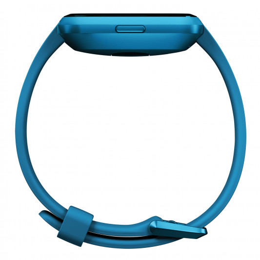 Fitbit Versa Lite Edition Wristband with Heart Rate Tracker - Marina blue/Blue Aluminum (S/L) (FB415BUBU)