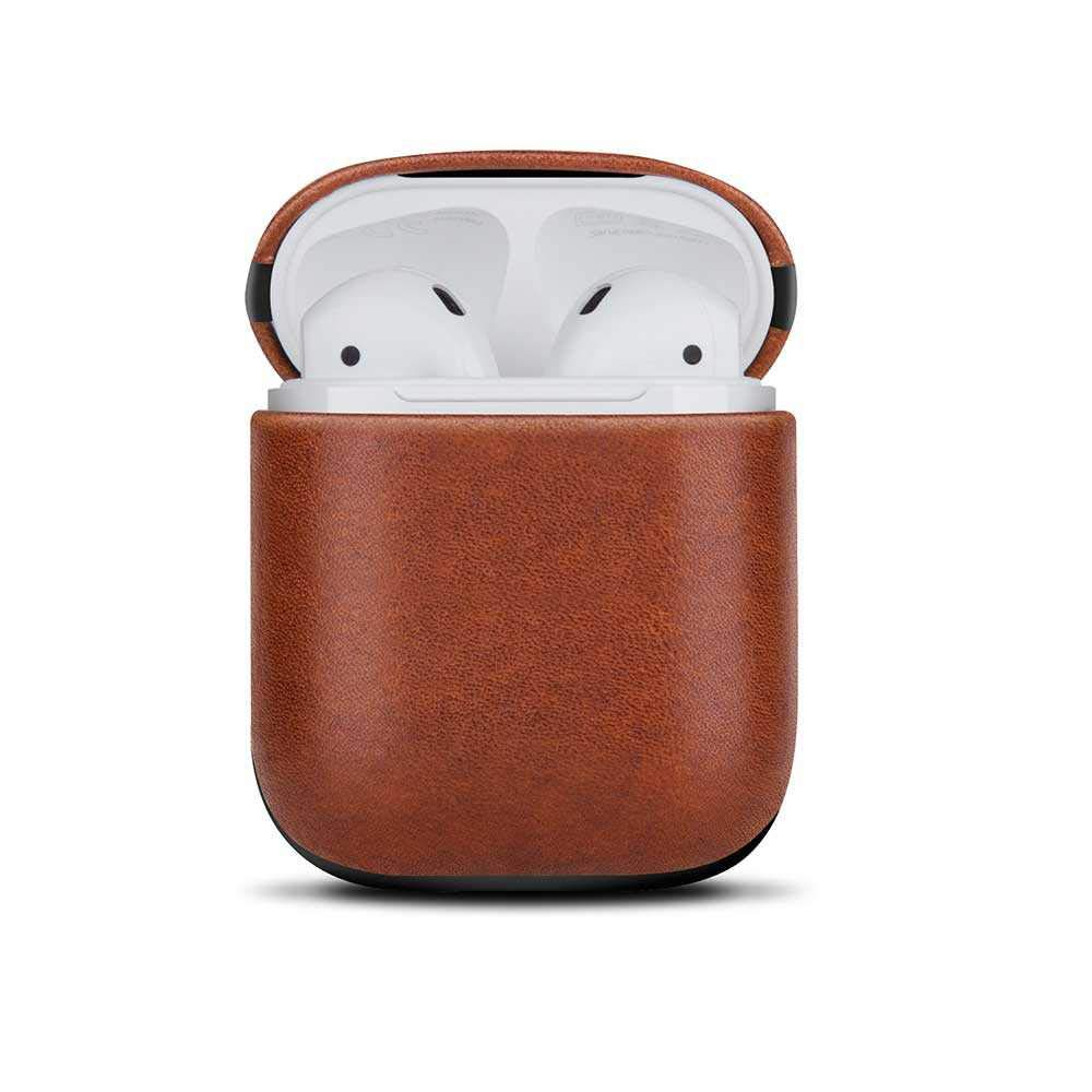 Viva Madrid Airex Genuine Leather Case for Airpods 1/2 (Brown)
