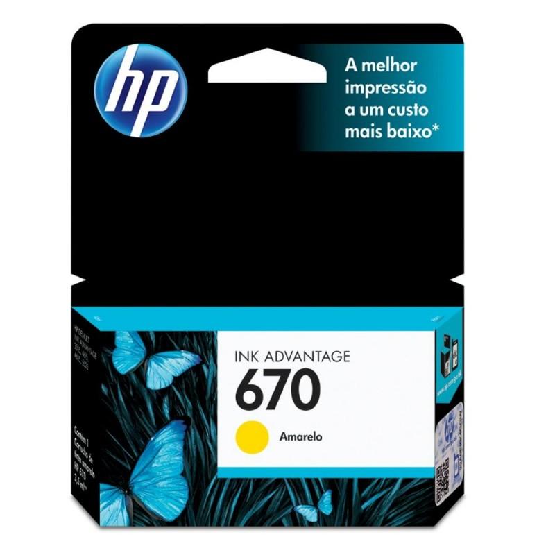 HP 670 Yellow Original Ink Advantage Cartridge