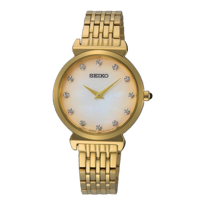 Seiko Quartz SFQ802P1 Diamond Accents Women's Watch