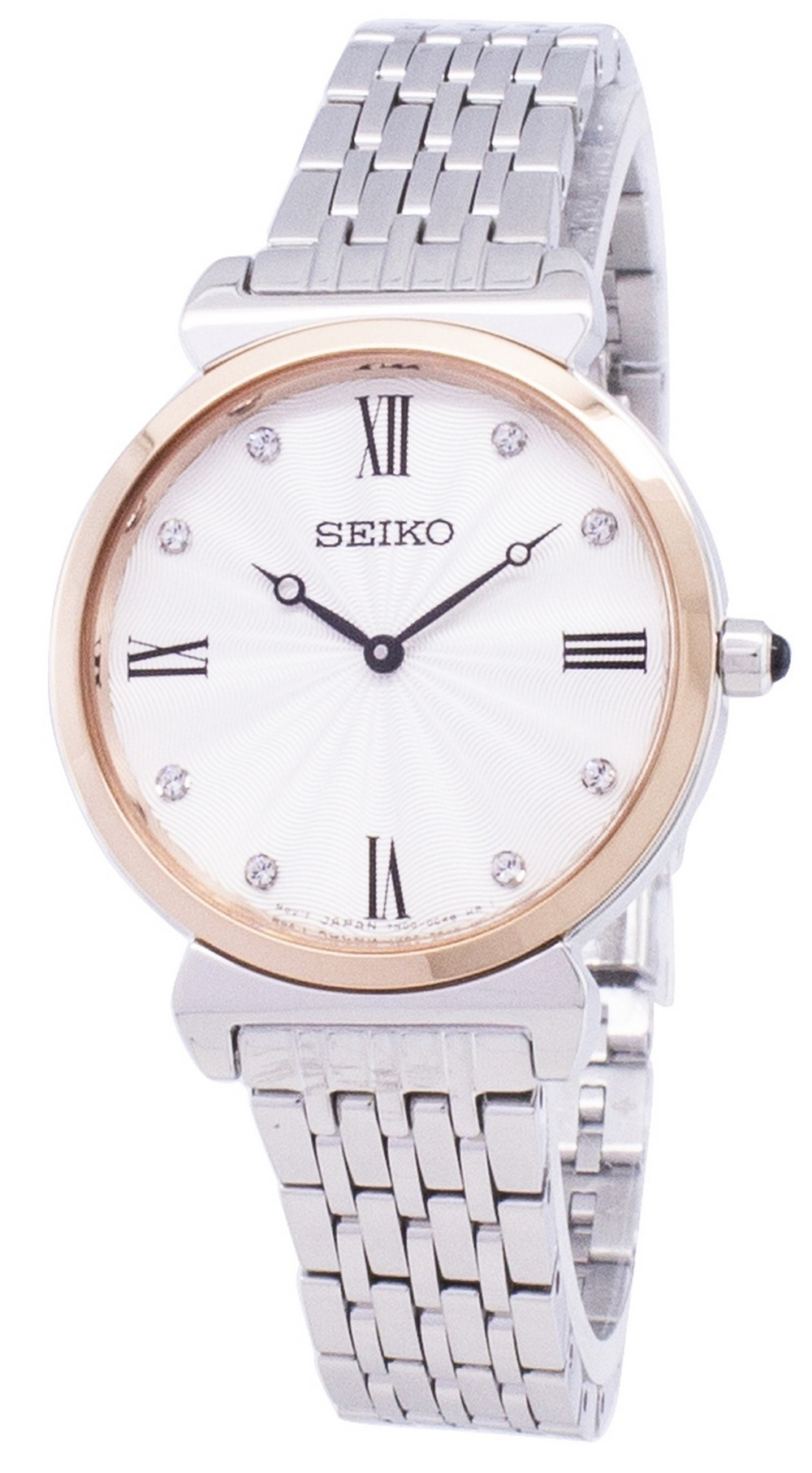 Seiko Women's Analog Diamond Accents Stainless Steel Watch - SFQ798P1