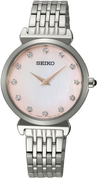 Seiko Quartz SFQ803P1 Diamond Accents Women's Watch