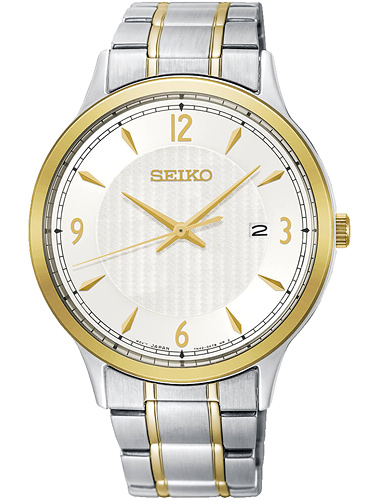 SEIKO SGEH82P1 Classic Silver Dial Two-tone Men's Watch