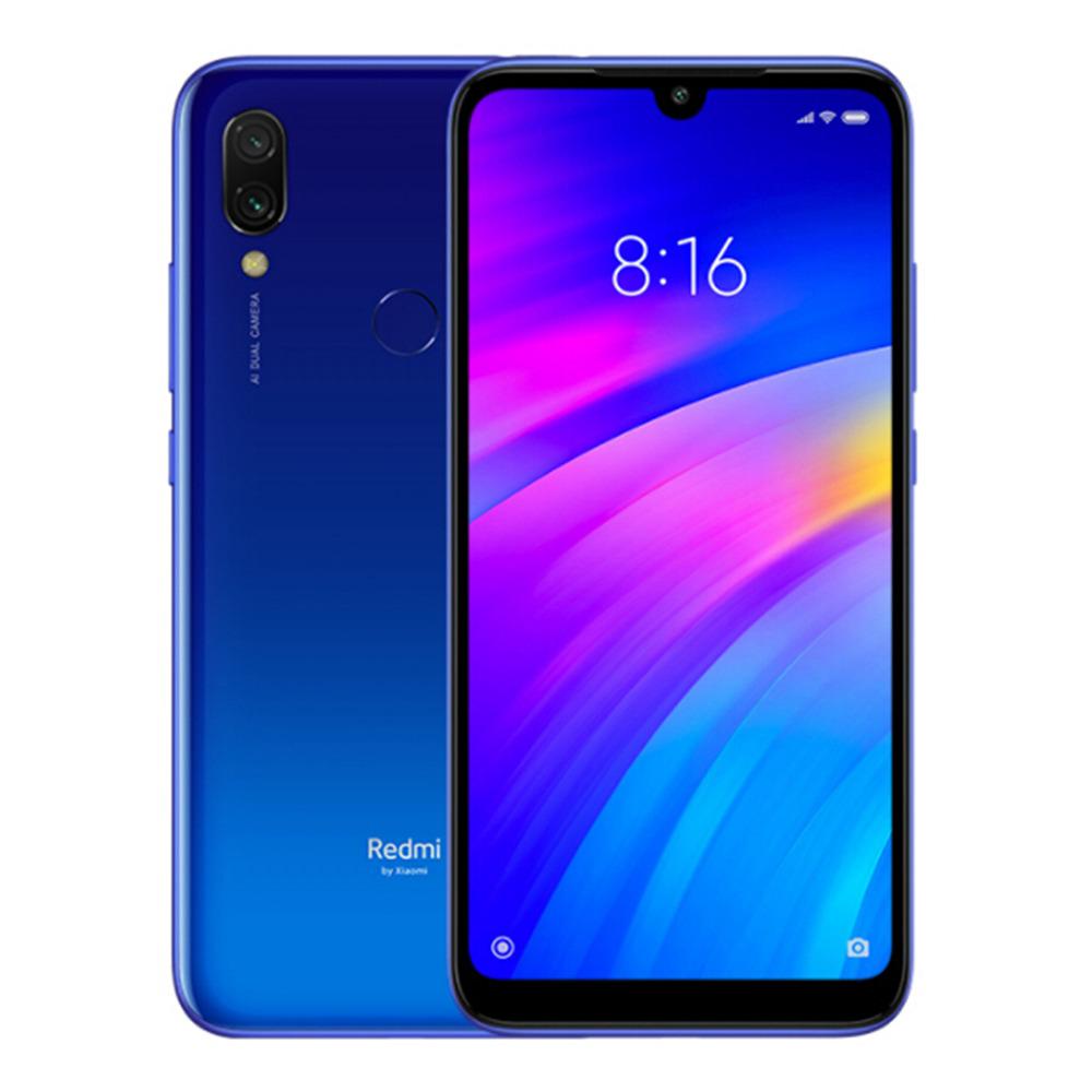 Xiaomi Redmi 7 Dual SIM - 32GB, 3GB RAM, 4G LTE, Blue Global Versia