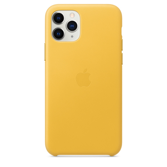 Apple iPhone 11 Pro Max Leather Case - Meyer Lemon